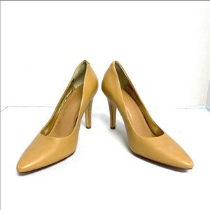 Banana Republic 9 Leather Pumps Heels Nude Tan
